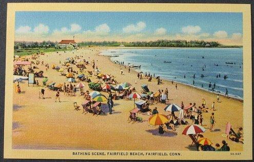 afairfieldbeachCTpostcard