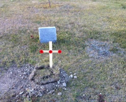 Dad's Grave Oct 2013