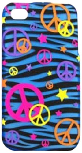Peace Blue Zebra Case_Cell Armor