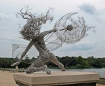 Sculpture at Trentham Estate by Robin Wight
